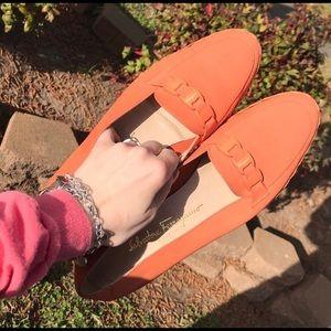 Salvatore Ferragamo sherbet orange espadrille US10